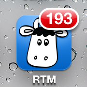 My Remember The Milk Icon From Today With 193 Incomplete Items
